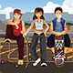 People with Skateboards  - GraphicRiver Item for Sale