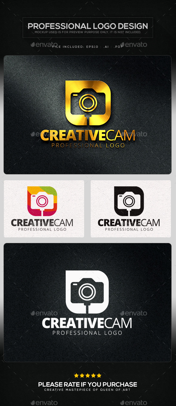 GraphicRiver Creative Cam Logo Template 10614394