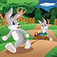 Rabbits with Easter Eggs  - GraphicRiver Item for Sale