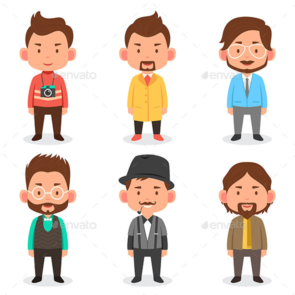 GraphicRiver Men Avatars 10614422