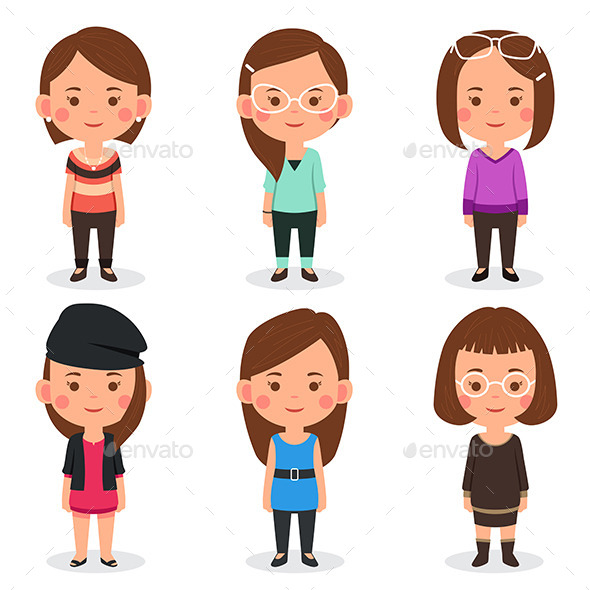 GraphicRiver Women Avatars 10614426