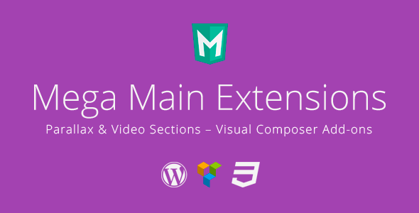 CodeCanyon Mega Main Extensions Parallax & Video VC Addons 10614427
