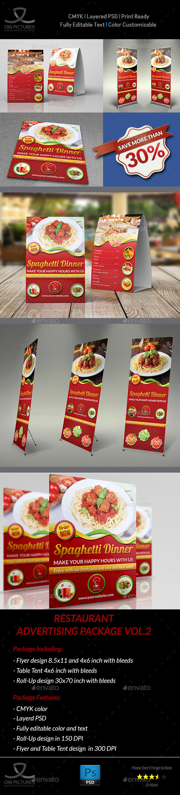 GraphicRiver Restaurant Advertising Bundle Vol.2 10614456