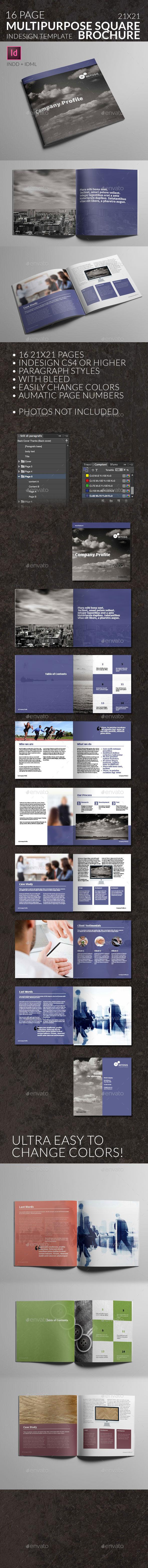 GraphicRiver Corporate Square Brochure Mitosis Multipurpose 10542116