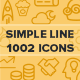 850 Simple Line Icons - GraphicRiver Item for Sale