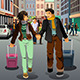 Couple Traveling Together - GraphicRiver Item for Sale