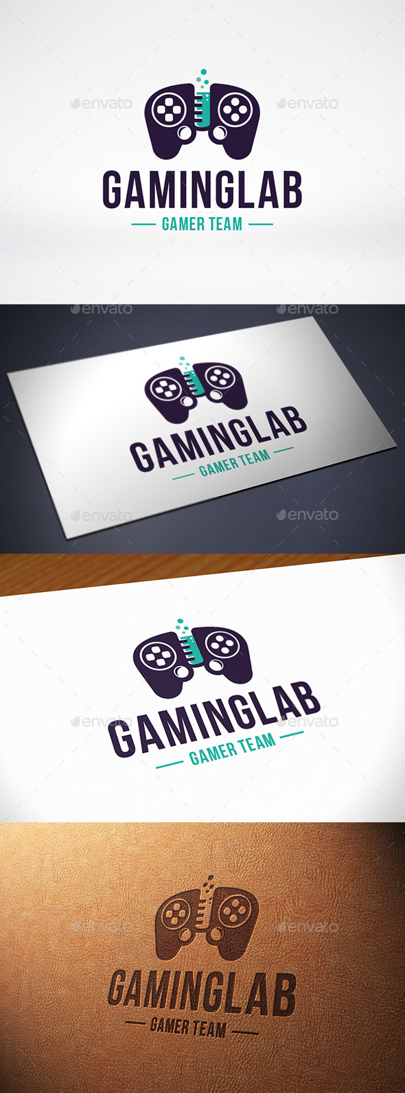 GraphicRiver Game Lab Logo Template 10615567