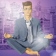 Hipster Businessman in Lotus Pose Meditating - GraphicRiver Item for Sale