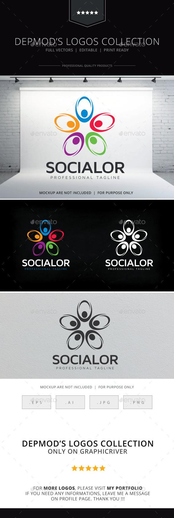 GraphicRiver Socialor Logo 10615689
