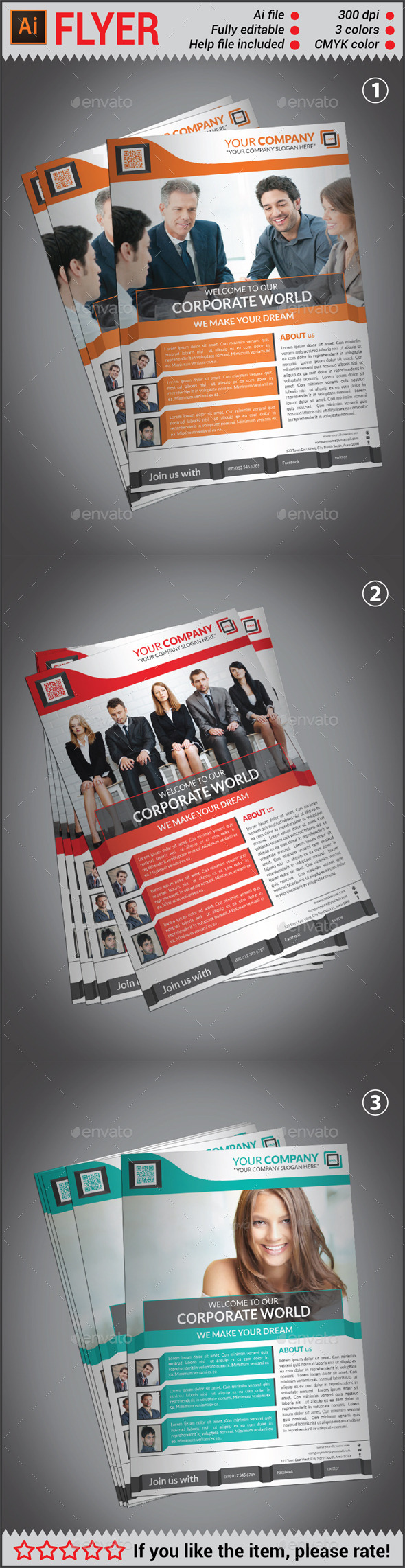 GraphicRiver Creative Corporate Flyer Template 10615886