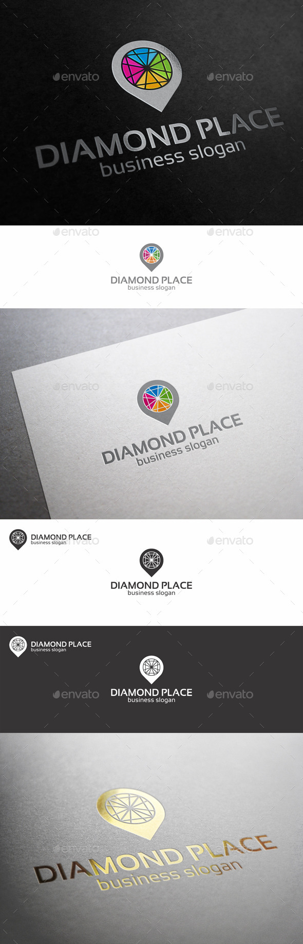 GraphicRiver Diamond Point Place Logo 10615918