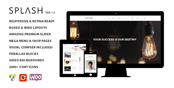 Splash - Multipurpose Wordpress Theme - Corporate WordPress