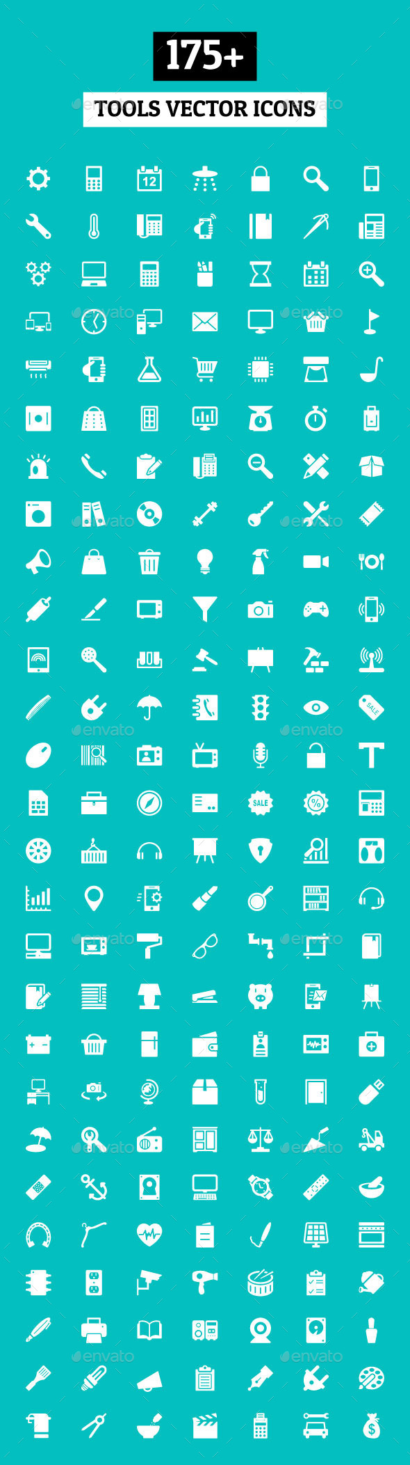 GraphicRiver 175& Tools Vector Icons 10616038