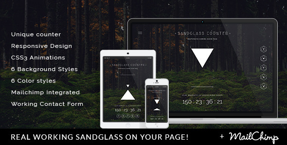 ThemeForest Sandglass Responsive Countdown Landing Page 10573805