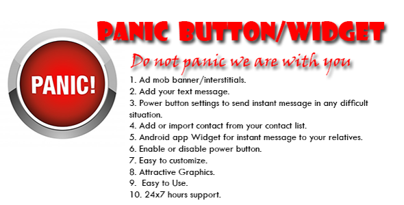 CodeCanyon Panic Android Application And Widget 10616609