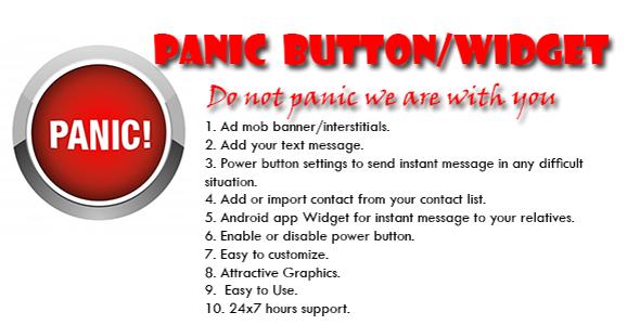 CodeCanyon Panic Android Application And Widget 10616609