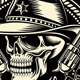 Cowboy Skull with Handguns - GraphicRiver Item for Sale
