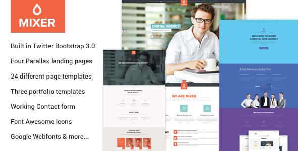ThemeForest Mixer Multipurpose HTML Template 10510436