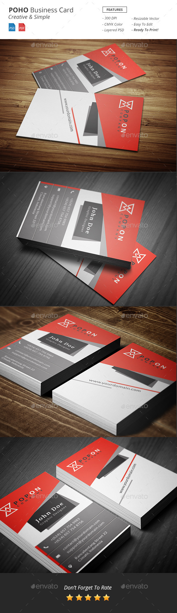 GraphicRiver Poho Bussiness Card Template 10617326