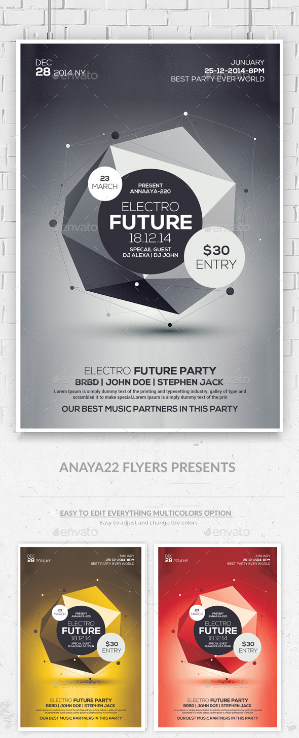 GraphicRiver Futuristic Flyer Psd Templates 10617478