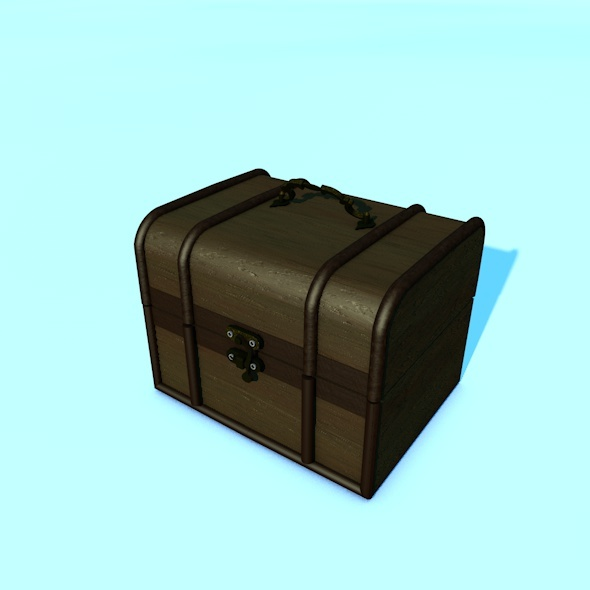 3DOcean Animated Realistic Wooden Chest 10617627