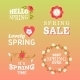 Spring Labels  - GraphicRiver Item for Sale