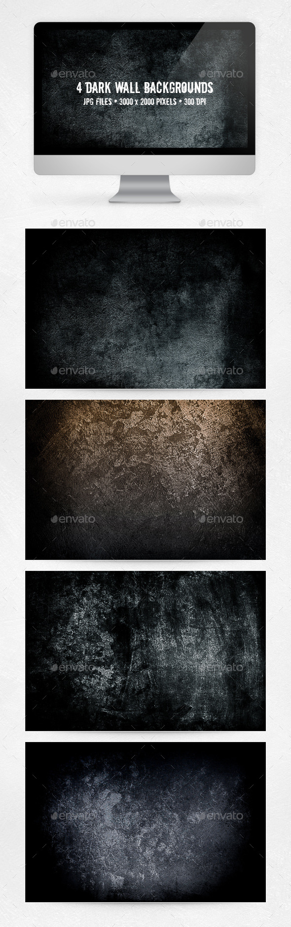 GraphicRiver Dark Wall Backgrounds 10618365