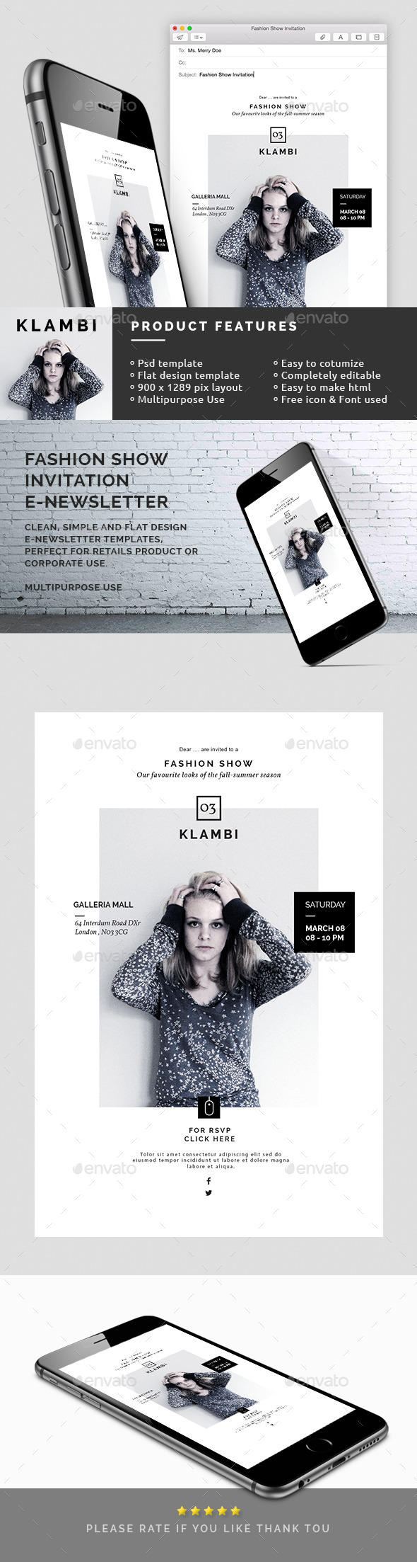 GraphicRiver Fashion Show Invitation Email Newsletter 10618647