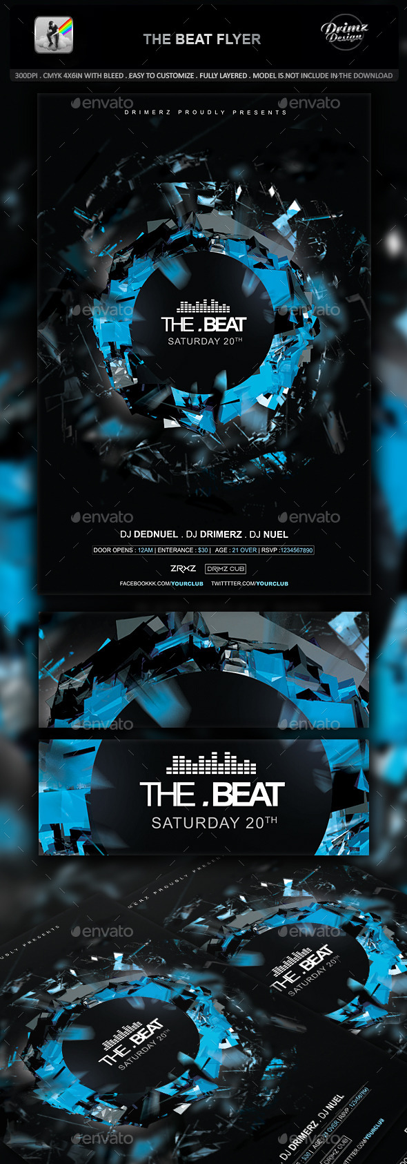 GraphicRiver The Beat Flyer 10618660
