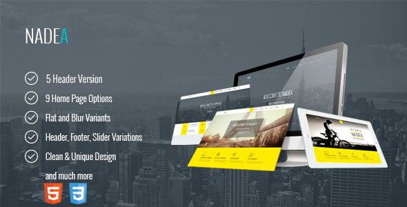 ThemeForest Nadea Responsive Multi-Purpose HTML5 Template 10618684