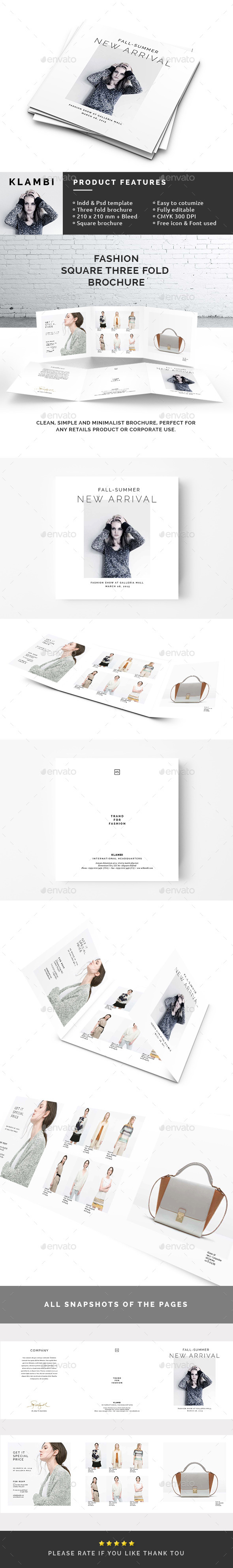 GraphicRiver Square 3-Fold Fashion Brochure 10618717