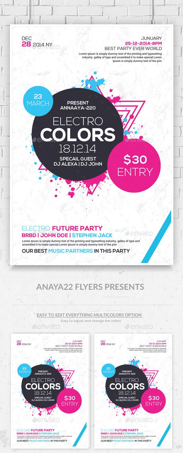 GraphicRiver Minimal Futuristic Psd Flyer Templates 10618742