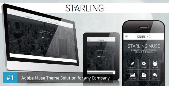 ThemeForest Starling Responsive Multipurpose Adobe Muse Template 10546669