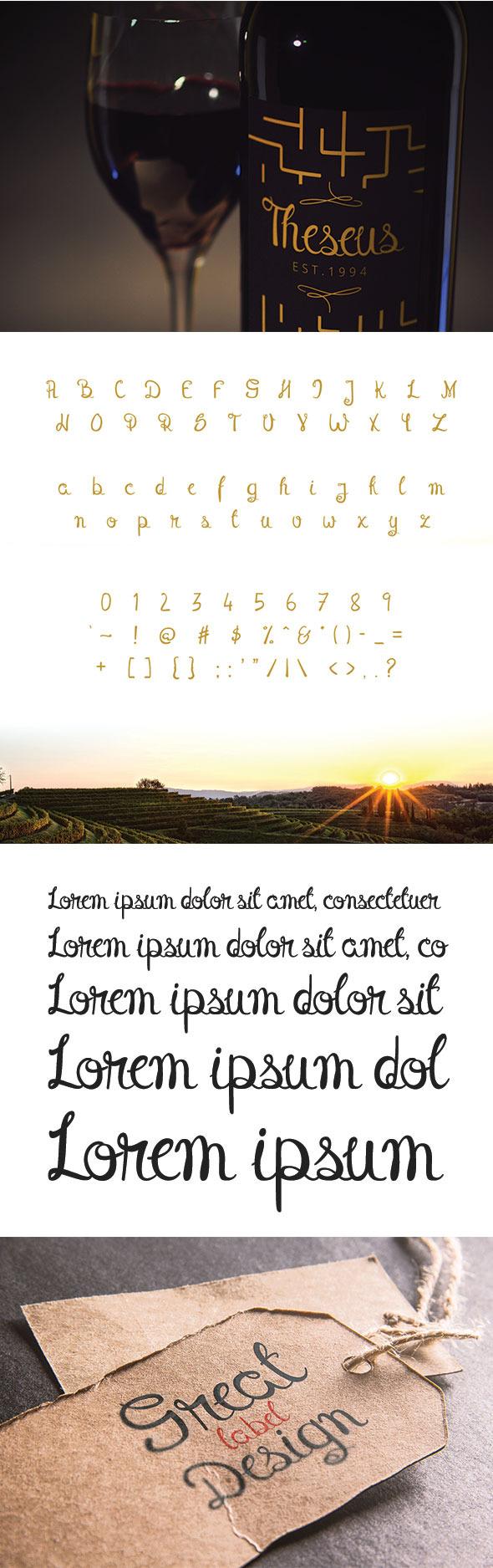 GraphicRiver Theseus Font 10618764