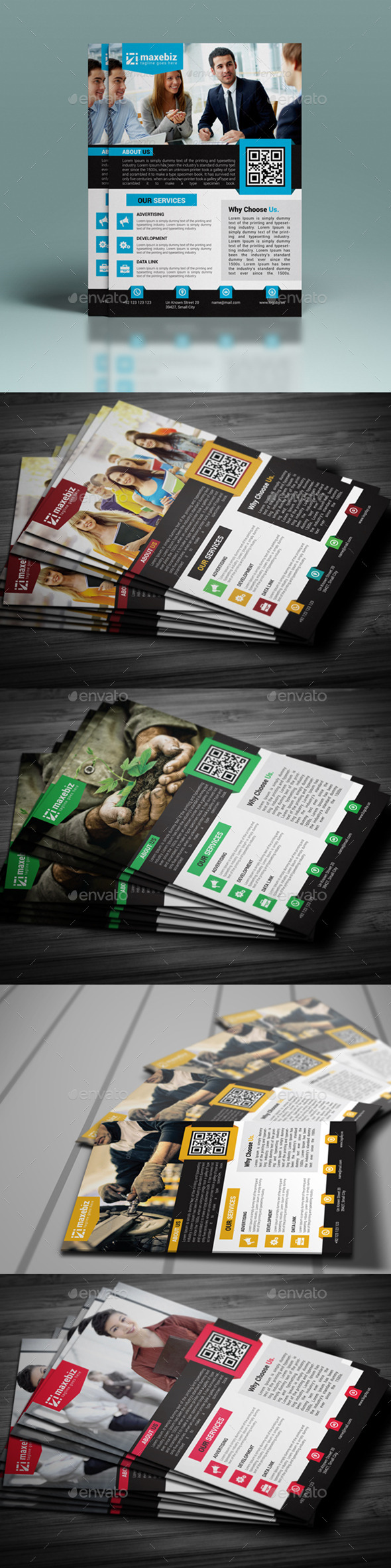 GraphicRiver Corporate Flyer Template 10618775