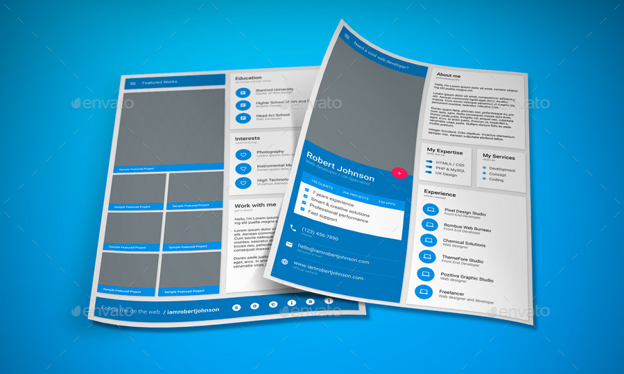 made   cv template by vinyljunkie