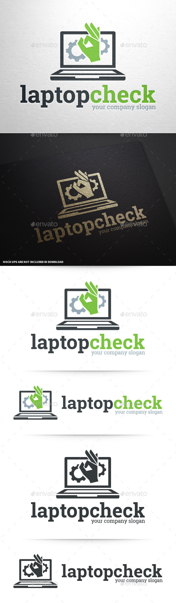 GraphicRiver Laptop Check Logo Template 10618971