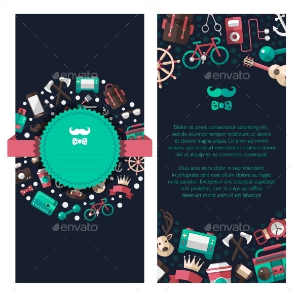 GraphicRiver Hipster Banners 10619042