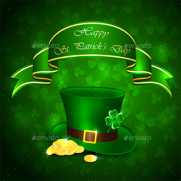 GraphicRiver Patricks Day Green Background 10619047