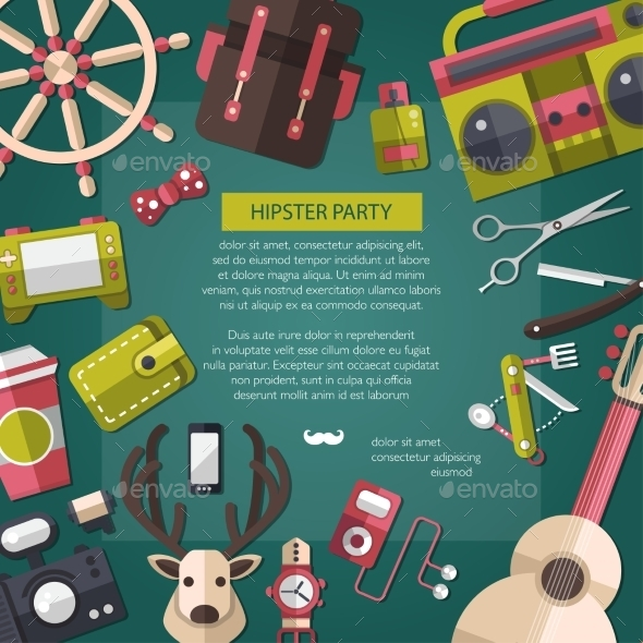 GraphicRiver Hipster Card 10619049