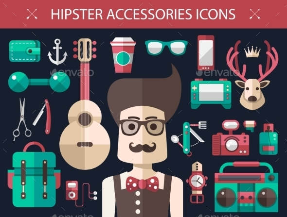 GraphicRiver Hipster Icons 10619057