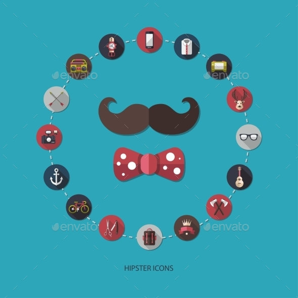 GraphicRiver Hipster Icons 10619060