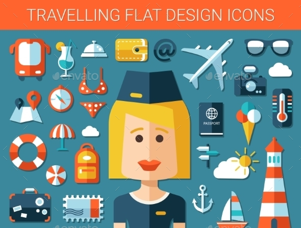 GraphicRiver Travel Icons 10619088