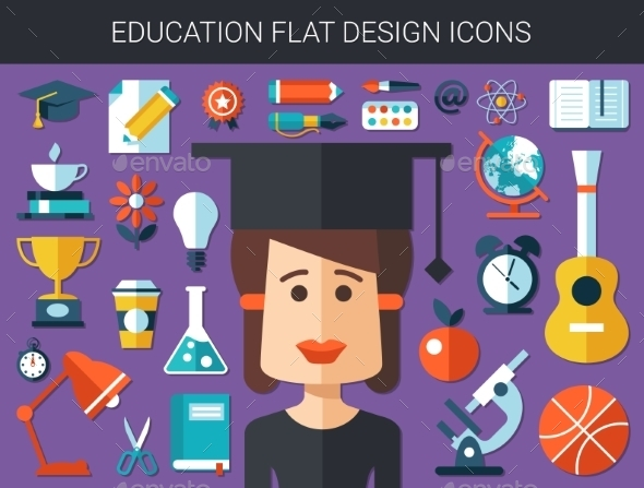 GraphicRiver Education Icons 10619093
