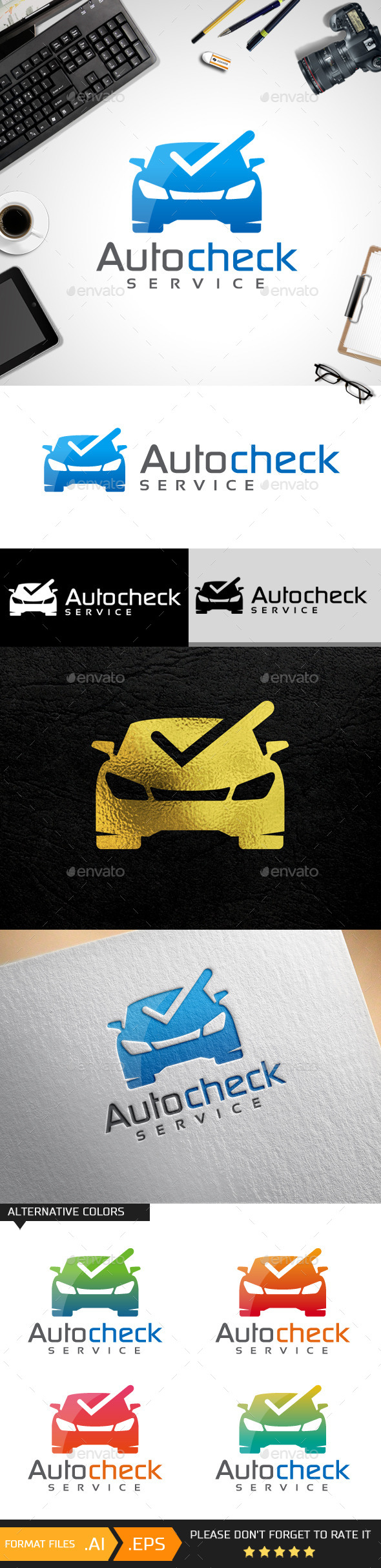GraphicRiver Auto Check Logo Templates 10619202