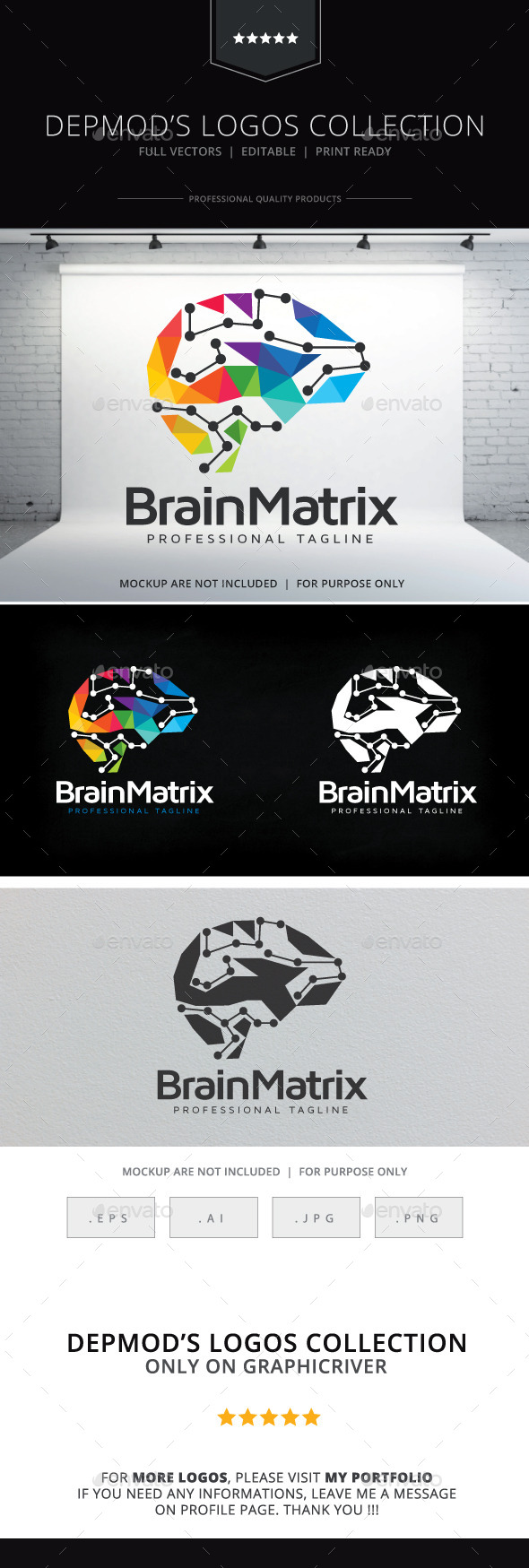 GraphicRiver Brain Matrix Logo 10619335