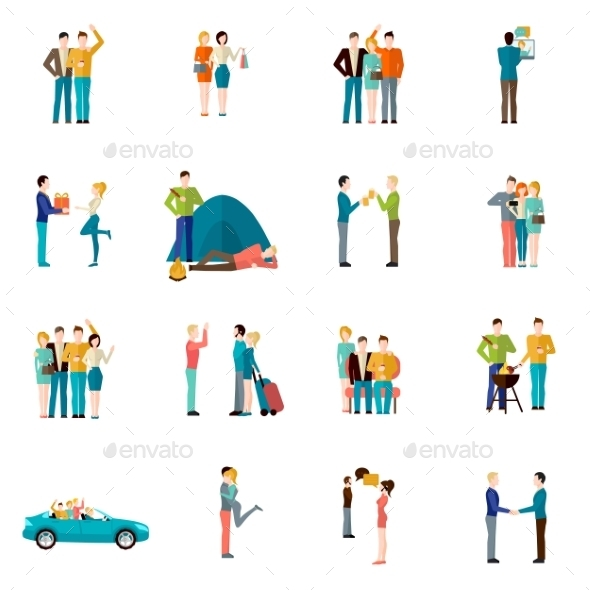 GraphicRiver Friends Icons Set 10619596