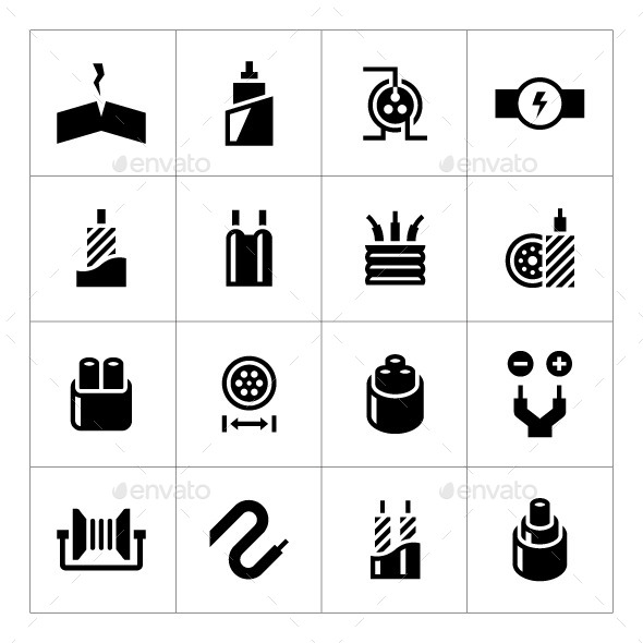 GraphicRiver Set Icons of Cables and Wires 10619615