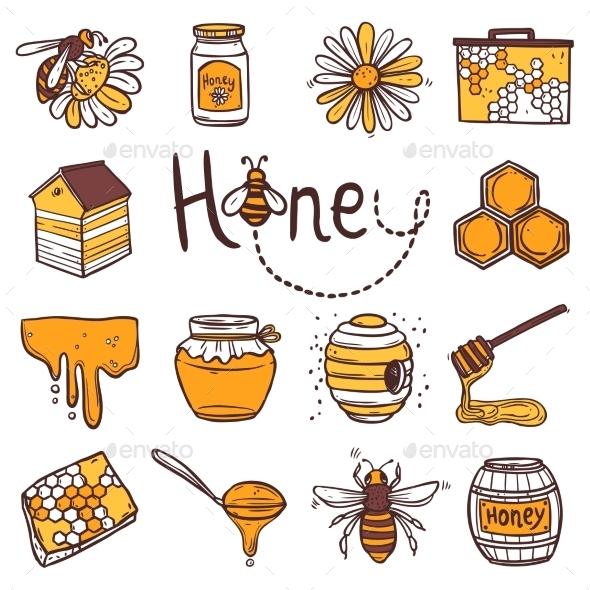 GraphicRiver Honey Icons Set 10619620