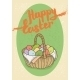 Happy Easter Postcard - GraphicRiver Item for Sale
